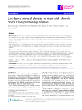 "Báo cáo y học: ""Low bone mineral density in men with chronic obstructive pulmonary disease"""