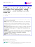 """Báo cáo y học: """"High frequency chest wall oscillation for asthma and chronic obstructive pulmonary disease exacerbations: a randomized sham-controlled clinical trial"""""""