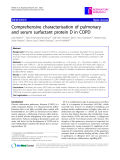 "Báo cáo y học: "" Comprehensive characterisation of pulmonary and serum surfactant protein D in COPD"""