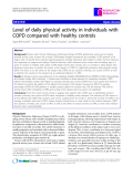 "Báo cáo y học: "" Level of daily physical activity in individuals with COPD compared with healthy controls"""
