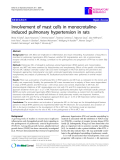 "Báo cáo y học: "" Involvement of mast cells in monocrotalineinduced pulmonary hypertension in rats"""