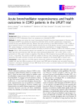 "Báo cáo y học: "" Acute bronchodilator responsiveness and health outcomes in COPD patients in the UPLIFT trial"""