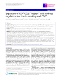 "Báo cáo y học: ""  Expansion of CD4+CD25+ helper T cells without regulatory function in smoking and COPD"""