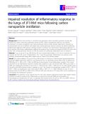 """Báo cáo y học: """" Impaired resolution of inflammatory response in the lungs of JF1/Msf mice following carbon nanoparticle instillation"""""""
