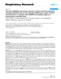 "Báo cáo y học: "" The bioavailability and airway clearance of the steroid component of budesonide/formoterol and """