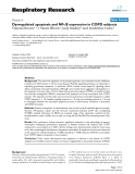 """Báo cáo y học: """"Dysregulated apoptosis and NFκB expression in COPD subjects"""""""