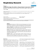 "Báo cáo y học: "" COPD phenotype description using principal components analysis"""