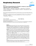 """Báo cáo y học: """" The mode of lymphoblastoid cell death in response to gas phase cigarette smoke is dose-dependent"""""""