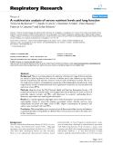 """Báo cáo y học: """"A multivariate analysis of serum nutrient levels and lung function"""""""