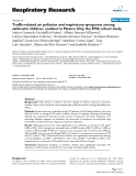 """Traffic-related air pollution and respiratory symptoms among asthmatic children, resident in Mexico City: the EVA cohort study"""""""
