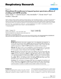 """Báo cáo y học: """"Glutathione-S-transferases in lung and sputum specimens, effects of smoking and COPD severity"""""""