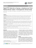 "Báo cáo sinh học: ""Rapid PCR detection of group a streptococcus from flocked throat swabs: A retrospective clinical study"""