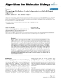 """Báo cáo sinh học: """"Computing distribution of scale independent motifs in biological sequences"""""""
