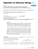 "Báo cáo sinh học: ""On the optimality of the neighbor-joining algorithm"""