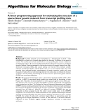 """Báo cáo sinh học: """" A linear programming approach for estimating the structure of a sparse linear genetic network from transcript profiling data"""""""