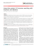 "Báo cáo sinh học: "" Linear-time protein 3-D structure searching with insertions and deletions"""