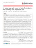 """Báo cáo sinh học: """"A robust approach based on Weibull distribution for clustering gene expression data"""""""