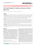 """Báo cáo sinh học: """"Fast local fragment chaining using sum-of-pair gap costs"""""""