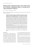 "Báo cáo khoa học: ""Disintegration of Dung Pats from Cattle Treated with the Ivermectin Anthelmintic Bolus, or the Biocontrol Agent Duddingtonia flagrans"""