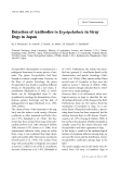 """Báo cáo khoa học: """"Detection of Antibodies to Erysipelothrix in Stray Dogs in Japan"""""""
