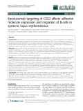 "Báo cáo y học: "" Epratuzumab targeting of CD22 affects adhesion molecule expression and migration of B-cells in systemic lupus erythematosus"""