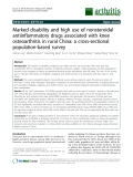 "Báo cáo y học: ""Marked disability and high use of nonsteroidal antiinflammatory drugs associated with knee osteoarthritis in rural China: a cross-sectional population-based survey"""