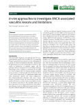 "Báo cáo y học: ""In vivo approaches to investigate ANCA-associated vasculitis: lessons and limitations"""