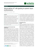 """Báo cáo y học: """" Abnormalities of T cell signaling in systemic lupus erythematosus"""""""