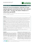 """Báo cáo y học: """"Reduced immunomodulation potential of bone marrow-derived mesenchymal stem cells induced CCR4+CCR6+ Th/Treg cell subset imbalance in ankylosing spondylitis"""""""