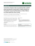 "Báo cáo y học: ""Correction: Steady-state mycophenolate mofetil pharmacokinetic parameters enable prediction of systemic lupus erythematosus clinical flares: an observational cohort study"""