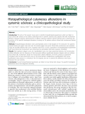 "Báo cáo y học: ""Histopathological cutaneous alterations in systemic sclerosis: a clinicopathological study"""