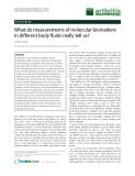 "Báo cáo y học: ""What do measurements of molecular biomarkers in different body fluids really tell us"""