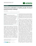 """Báo cáo y học: """"Antinuclear antibodies in healthy people: the tip of autoimmunity's iceberg? David S Pisetsky1,2"""""""