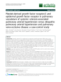 "Báo cáo y học: ""Platelet-derived growth factor receptor-b and epidermal growth factor receptor in pulmonary vasculature of systemic sclerosis-associated pulmonary arterial hypertension versus idiopathic pulmonary arterial hypertension and pulmonary veno-occlusive disease: a case-control study"""