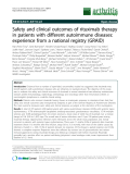 "Báo cáo y học: ""Safety and clinical outcomes of rituximab therapy in patients with different autoimmune diseases: experience from a national registry (GRAID)"""
