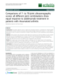 """Báo cáo y học: """"Comparisons of 7- to 78-joint ultrasonography scores: all different joint combinations show equal response to adalimumab treatment in patients with rheumatoid arthritis"""""""