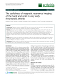 """Báo cáo y học: """"The usefulness of magnetic resonance imaging of the hand and wrist in very early rheumatoid arthritis"""""""