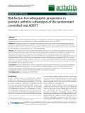 """Báo cáo y học: """"Risk factors for radiographic progression in psoriatic arthritis: subanalysis of the randomized controlled trial ADEPT"""""""