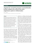 "Báo cáo y học: "" Angiotensin-converting enzyme 2 autoantibodies: further evidence for a role of the renin– angiotensin system in inflammation"""