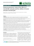 """Báo cáo y học: """"Pharmacoproteomic study of the effects of chondroitin and glucosamine sulfate on human articular chondrocyte"""""""
