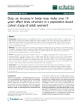"Báo cáo y học: ""Does an increase in body mass index over 10 years affect knee structure in a population-based cohort study of adult women"""