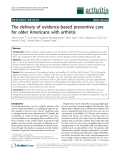 "Báo cáo y học: ""The delivery of evidence-based preventive care for older Americans with arthritis"""