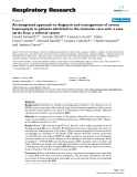 """Báo cáo y học: """" An integrated approach to diagnosis and management of severe haemoptysis in patients admitted to the intensive care unit: a case series from a referral centre"""""""