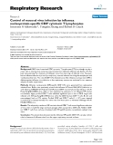 """Báo cáo y học: """"Control of mucosal virus infection by influenza nucleoprotein-specific CD8+ cytotoxic T lymphocytes"""""""