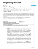 """Báo cáo y học: """" Glutathione S-transferase omega in the lung and sputum supernatants of COPD patients"""""""