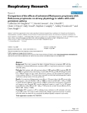 "Báo cáo y học: "" Comparison of the effects of salmeterol/fluticasone propionate with fluticasone propionate on airway physiology in adults with mild persistent asthma"""