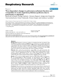 "Báo cáo y học: ""Time-dependent changes in pulmonary surfactant function and composition in acute respiratory distress syndrome due to pneumonia or aspiration"""