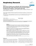 """Báo cáo y học: """" Assessment of pulmonary antibodies with induced sputum and bronchoalveolar lavage induced by nasal vaccination against Pseudomonas aeruginosa: a clinical phase I/II study"""""""