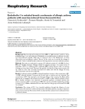 """Báo cáo y học: """"  Endothelin-1 in exhaled breath condensate of allergic asthma patients with exercise-induced """""""