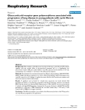 "Báo cáo y học: "" Glucocorticoid receptor gene polymorphisms associated with progression of lung disease in young patients with cystic fibrosis"""
